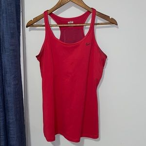 Nike Deep Red Tank with built in bra